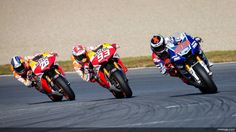 Motegi 2013, Dani Pedrosa following Marc Marquez, following Jorge Lorenzo - and that's how it stayed!