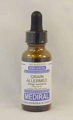 Grain Allermed Homeopathic.  Natural Remedy for Grain Allergies.  $14.00