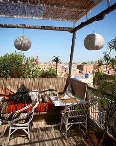 Rooftop dining in Marrakesh Rooftop Dining, Marrakesh, Morocco, Patio, Explore, Adventure, Outdoor Decor, Instagram Posts, Travel
