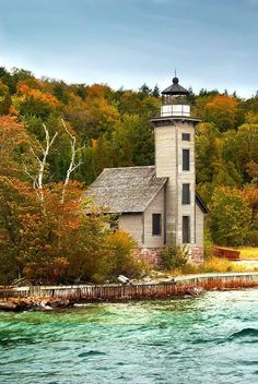 Grand Island Lighthouse by Randall Nyhof