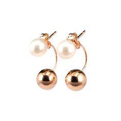 Σκουλαρίκια φυσικό μαργαριτάρι (γλυκού νερού) κρεμαστό χρυσό Κ14 Pearl Earrings, Jewels, Pearls, Pearl Studs, Jewerly, Bead Earrings, Gemstones, Fine Jewelry, Gem