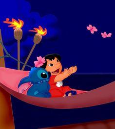 Lilo and Stitch, until we meet again. Lilo And Stitch Drawings, Lilo Y Stitch, Cute Stitch, Little Stitch, Disney Stitch, Disney Films, Disney Cartoons, Disney Art, Walt Disney