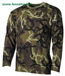Long sleeved T-shirt in popular Czech Woodland pattern is available now at Military an online outdoor store. For a enormous collection of comfortable tops in variety of patterns visit our website today. Camouflage, Woodland, Fashion Brands, Military Jacket, Long Sleeve, T Shirt, Jackets, Clothes, Clothing Ideas