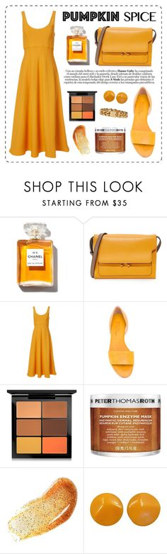 """""""Pumpkin Spice"""" by aesthetictm ❤ liked on Polyvore featuring Marni, TIBI, Michel Vivien, MAC Cosmetics, Peter Thomas Roth and Marc Jacobs"""