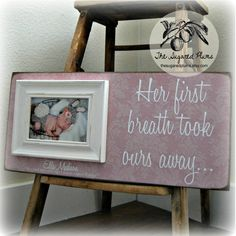 Goddaughter Baby Girl Picture Frame By Thesugaredplums On Etsy