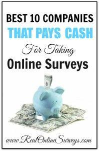 10 Legitimate Companies That Pays Cash For Taking Online Surveys. The Best Paid Survey Panels!