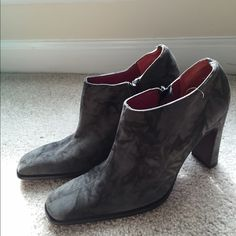 **Final price**Gray suede heeled booties These work great with black tights and dress/skirt! Also great for work under dress pants. Fit true to size! Claudia Ciuti Shoes Ankle Boots & Booties