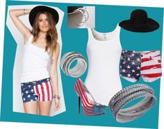 """Ready for the Fourth!"" by elunajewelry on Polyvore"