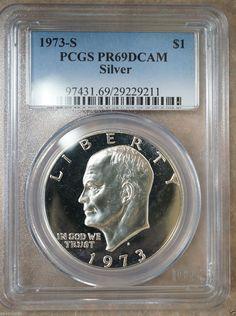 Get $5 Off!! Buy 3 Items 1976-S Type 1 Proof Eisenhower Dollar PCGS PR-69 DCAM