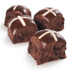 Easter Chocolate Hot Cross buns