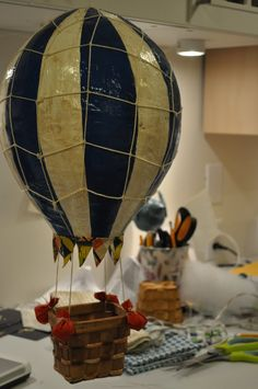 Paper Mache Hot Air Balloon Could make 4 dolls. Similar to SAGES hot air balloon!!!!~G