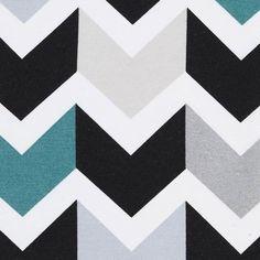 Tissu coton épais imprimé chevron - Tissus - MAISON Mondial Tissus