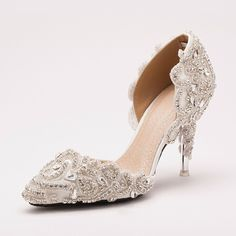 140.00$  Watch here - http://ali2jc.worldwells.pw/go.php?t=32252478188 - Hot Promotion Luxury Bridal Shoes Appliques Crystal Wedding Shoes Rhinestone High Heel Evening Party Banquet Dress Shoes
