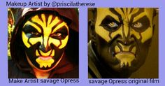 Make of Savage Opress of Star Wars - The Clones wars Makeup Artist by @priscilatherese.