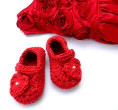 Newborn Infant Baby Girl Reborn Booties by ItsyBitsyBabyToes, $12.00