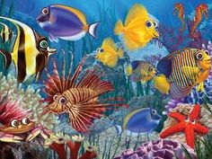 Wide-eyed Fishies 400 piece Family Puzzle from Cobble Hill. This remains a best selling puzzle. The vibrant colours of the fish and ocean activity captivate the young and adult puzzlers alike. Life Under The Sea, Diamond Picture, Rainbow Resource, Shape Puzzles, Colorful Fish, Yarn Shop, Puzzles For Kids, Crisp Image, Dot Painting