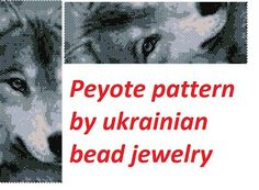 This is a peyote pattern wolf Here is 44 rows and length 6.99 inch Colors 7 The PDF file includes: 1. A bead legend (color and numbers of