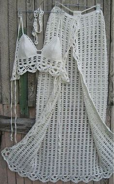 Crochet bikini boho lace ideas for 2019 Bikinis Crochet, Crochet Skirts, Crochet Clothes, Mode Crochet, Crochet Lace, Crochet Blouse, Crochet Crafts, Crochet Projects, Motif Bikini