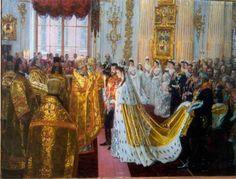 Laurits Tuxen (1853-1927): Wedding of Russian Emperor Nicholas II (1868-1918) and Grand Princess Alexandra Fedorovna (1872-1918), 1895