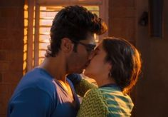 Arjun Kapoor and Alia Bhatt Hot Lip Lock Kiss Pics – Bold Kissing Scene Photos in 2 States Hindi Movie 2014