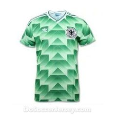 4b5e1e0f7 Dosoccerjersey.com maillot de foot West Germany 1988-1990 Away Green Retro  Shirt Soccer