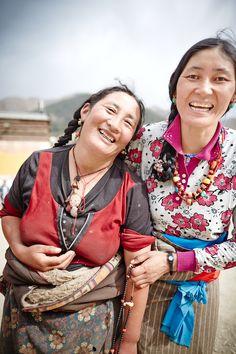 Tibetan prayers. Labrang, Xiahe, China.