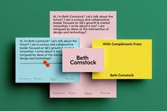 Beth Comstock Branding by Leta Sobierajski & Wade Jeffree – Inspiration Grid