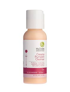 MyChelle Creamy Pumpkin Cleanser is for Dry Skin. It will help to moisturize your skin and will remove face make-up too! #Sponsored review