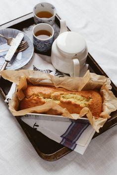 Cardamom Tea Cake in the Pakistani Manner // Love the presentation of the Tea Tray!