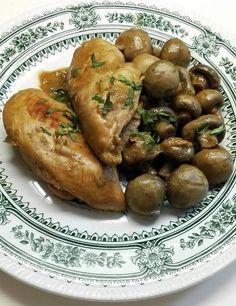 Κοτόπουλο με μανιτάρια και σάλτσα γιαούρτι με μουστάρδα - Dukan's Girls