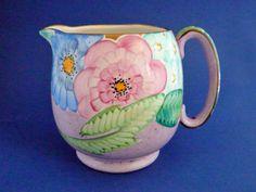 Gray's Pottery Art Deco Floral Jug c1932