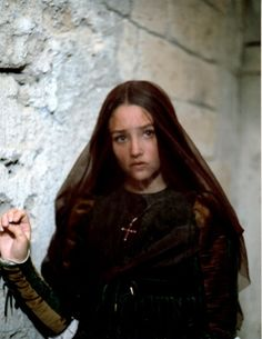 "I can't imagine any production will exceed the beauty and pathos of Franco Zeffirelli's 1968 production of ""Romeo and Juliet"".  Here is a production still of Juliet (Olivia Hussey).  Both she and the actor who played Romeo (Leonard Whiting) possess a beauty and innocence that I doubt any subsequent production could match."