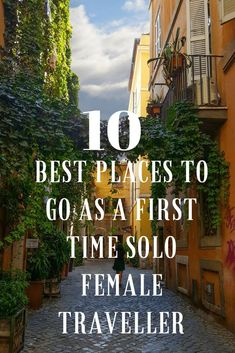 Best places for solo female travel: If you're planning to travel alone for the first time, consider one of these destinations that are great for solo travelers. destinations Top 10 Best Places to go as a First Time Solo Female Traveller Solo Travel Tips, Travel Advice, Travel Guides, Travel Info, Travel Hacks, Travel Channel, Travel Goals, Budget Travel, Time Travel