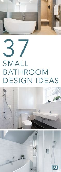 Looking for inspiration and ideas for your next small bathroom remodeling project? Here are 37 small bathroom design ideas!