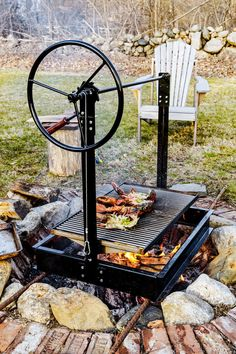 50 Unique Backyard Grill Design Ideas That Looks So Awesome - hdintex Outdoor Bbq Kitchen, Pizza Oven Outdoor, Outdoor Kitchen Design, Outdoor Cooking, Backyard Fireplace, Fire Pit Backyard, Campfire Grill, Fire Pit Cooking, Fire Pit Grill