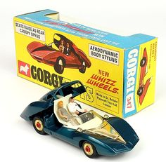 Corgi Toys 307 Chevrolet Astro Concept Car w/red spit Whizzwheels Pic. By QualityDiecastToys.com