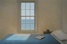 Jim Holland - Present), American Artist - Book of Dreams 2 - 24 x 36 Edward Hopper, Jack Vettriano, Artist Gallery, American Artists, Ramen, Holland, Illustration Art, Illustrations, Windows