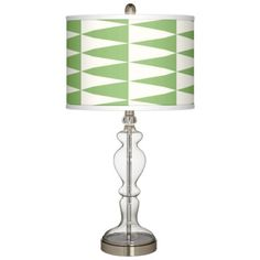 Coastal Pennant Giclee Apothecary Clear Glass Table Lamp