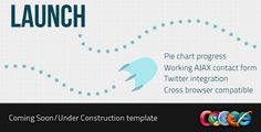 Site Templates - Launch - Coming Soon/Under Construction | ThemeForest - via http://bit.ly/epinner