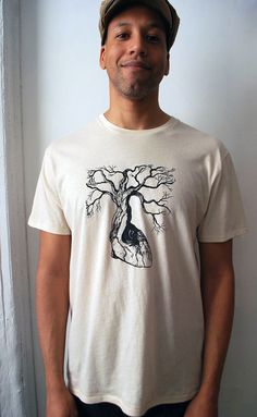Anatomical Heart Tree Tee  Mens Large   Organic by TheLotusRoot, $38.00