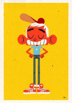 Little Jim by Mr Glups, via Behance