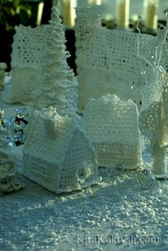 Crochet Christmas Village