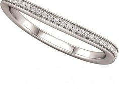Wedding Band $700.00 STYLE: 001-110-00333 14K WG Band 1/10 ctw SI2-SI3 GH matching semi 122181-3C  http://www.theringbygoldgals.com/