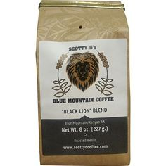 "Scotty D's Jamaican Coffee ""Black Lion"" Blend-Jamaican Blue Mountain(Whole Bean) (Medium Roast) 8 oz. >>> Read more info by clicking the link on the image. Jamaican Coffee, Candied Pineapple, Blue Mountain Coffee, Black Lion, Coffee Tasting, Blended Coffee, Black Coffee, Best Coffee, Drinking Tea"