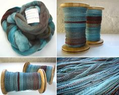 Verdigris Over Copper  Love the look of plying two long sequence verigated yarns.