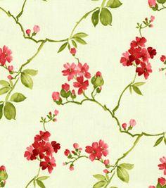 drapes - Home Decor Fabrics-Waverly Spring Haiku Blossom Fabric