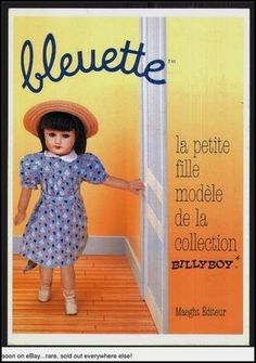 #BLEUETTE  is a wonderful book, a museum item,  about THE french doll, epitome of the collector doll, this copy is signed by author the reknown american in Paris Billy Boy, 760pages, of mint quality, the editor is the restigious Maeght in Paris