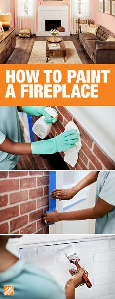 Re-painting your fireplace can change the entire look of your living room. Learn how to prep and clean the brick, prime, and apply paint for maximum coverage with the step-by-step instructions on The Home Depot blog.