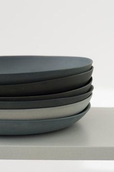 grey.quenalbertini: Grey Porcelain Plates set | by Golden Biscotti on Etsy