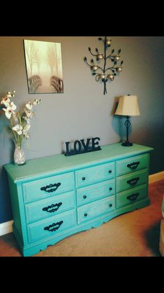 Refinished furniture with chalk paint and distressing at www.facebook.com/shabbysisterdesigners